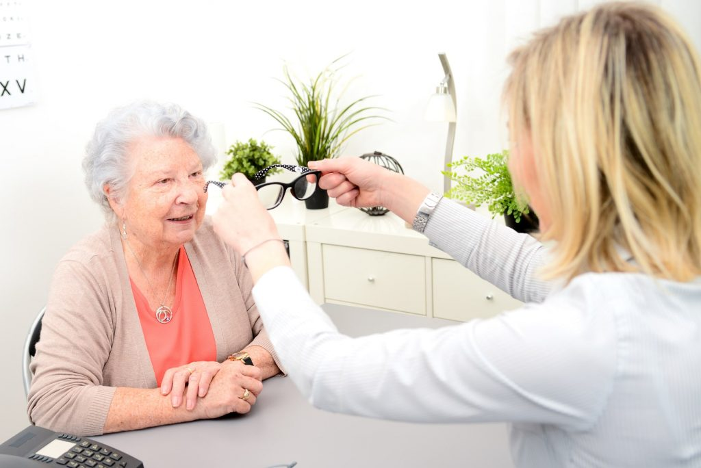 Image of patient eye examination
