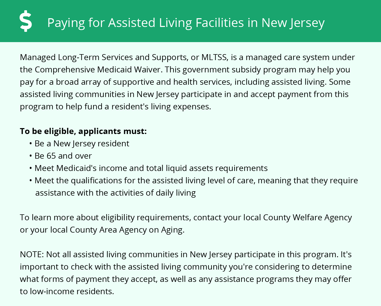 Financial Assistance for Assisted Living in New Jersey