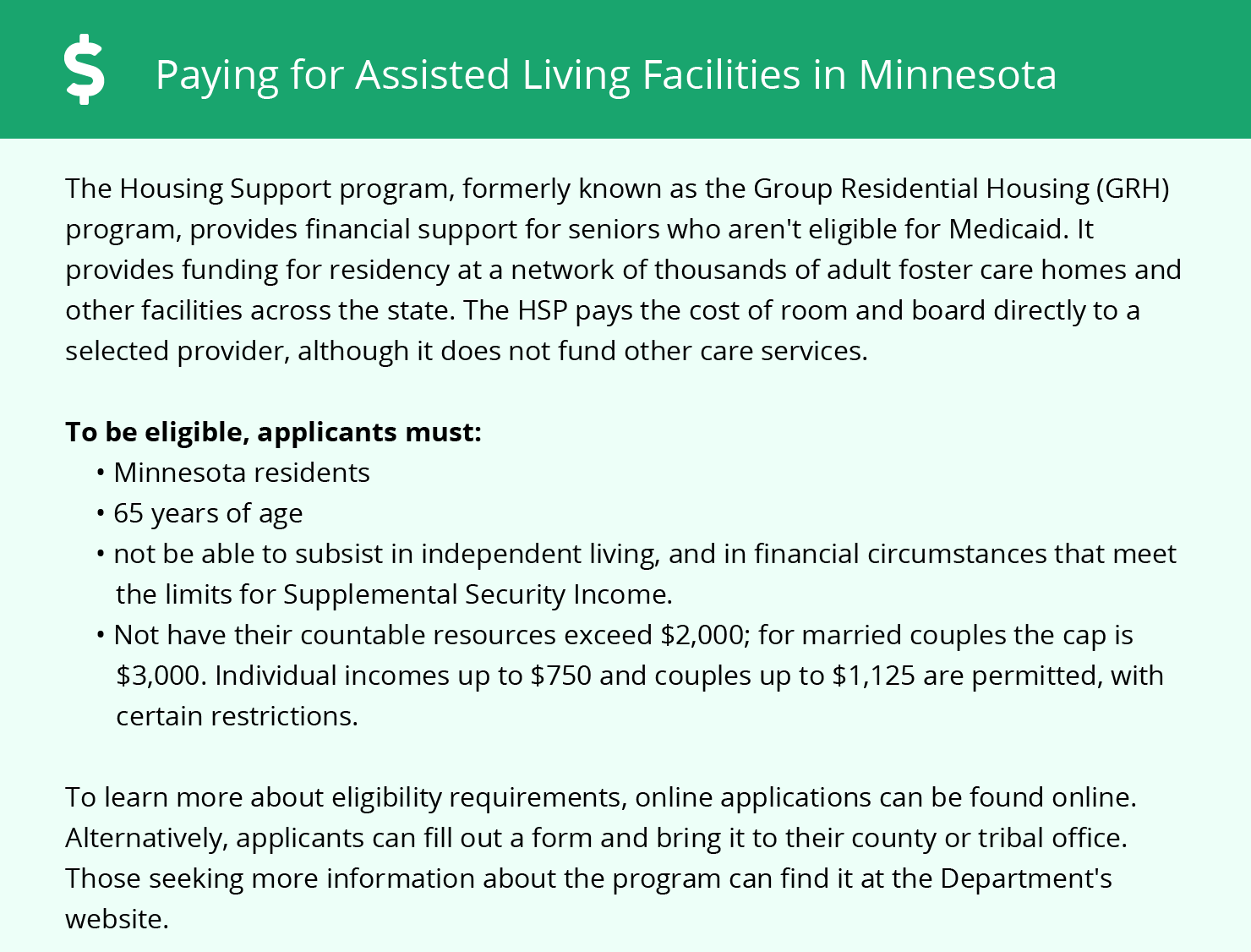 Financial Assistance for Assisted Living in Saint Paul