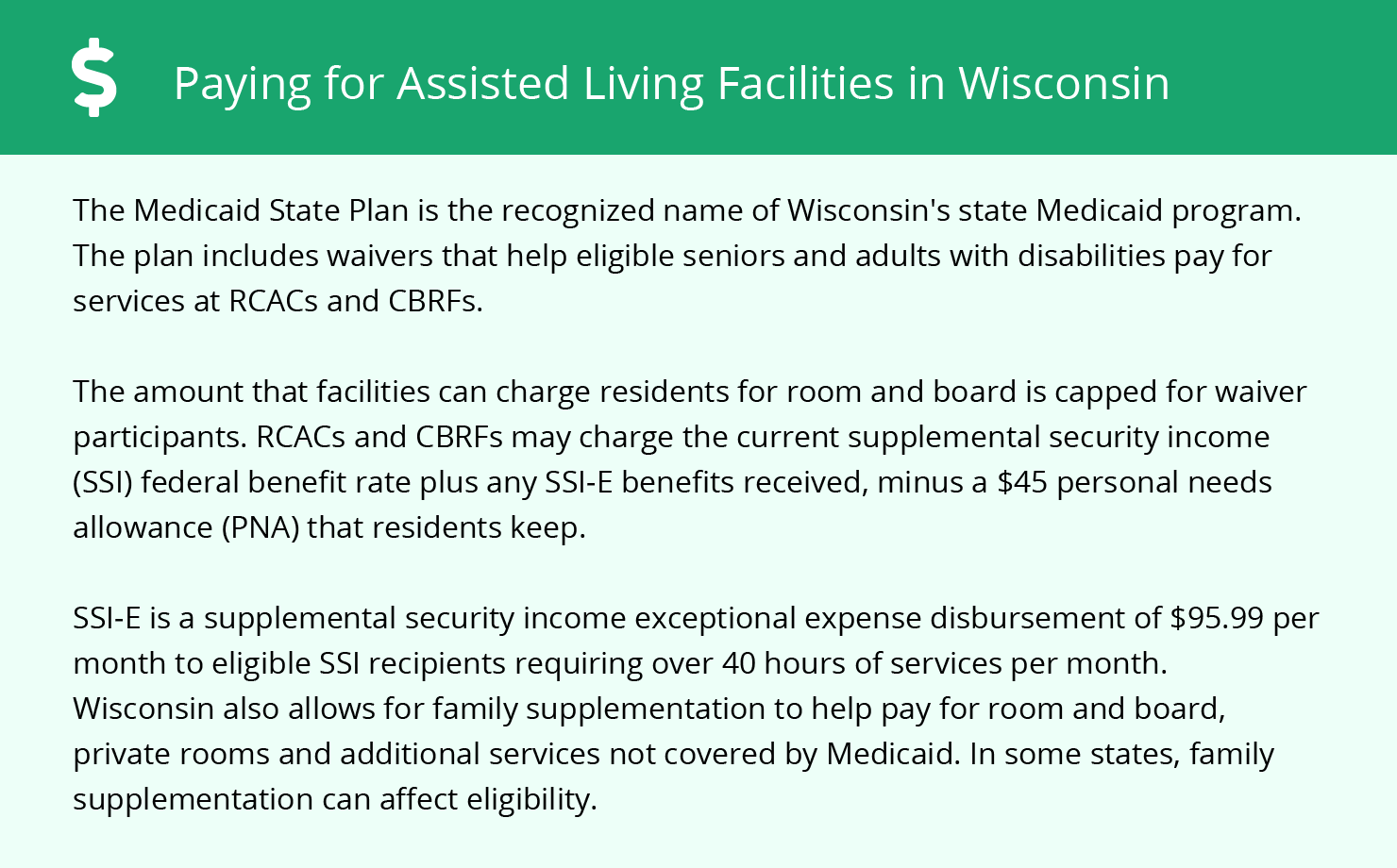 Financial Assistance for Assisted Living in Oshkosh
