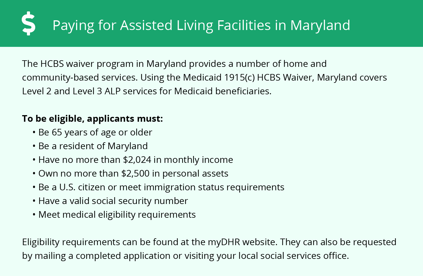 Financial Assistance for Assisted Living in Howard County