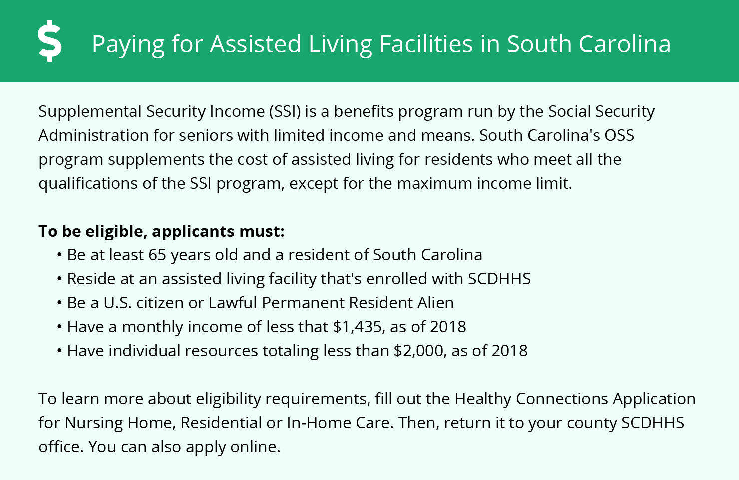 Financial Assistance for Assisted Living in Charleston County