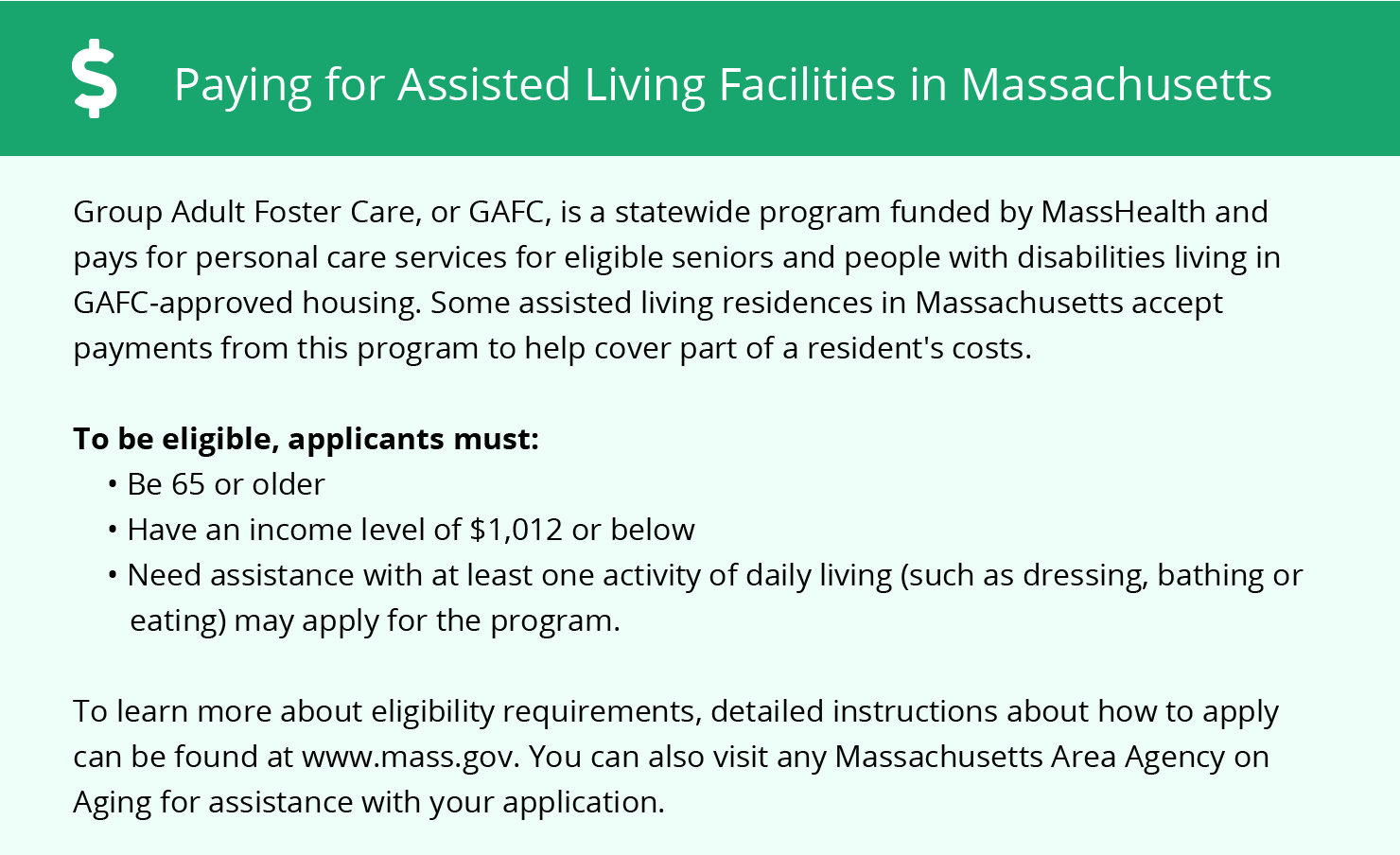 Financial Assistance for Assisted Living in Plymouth County