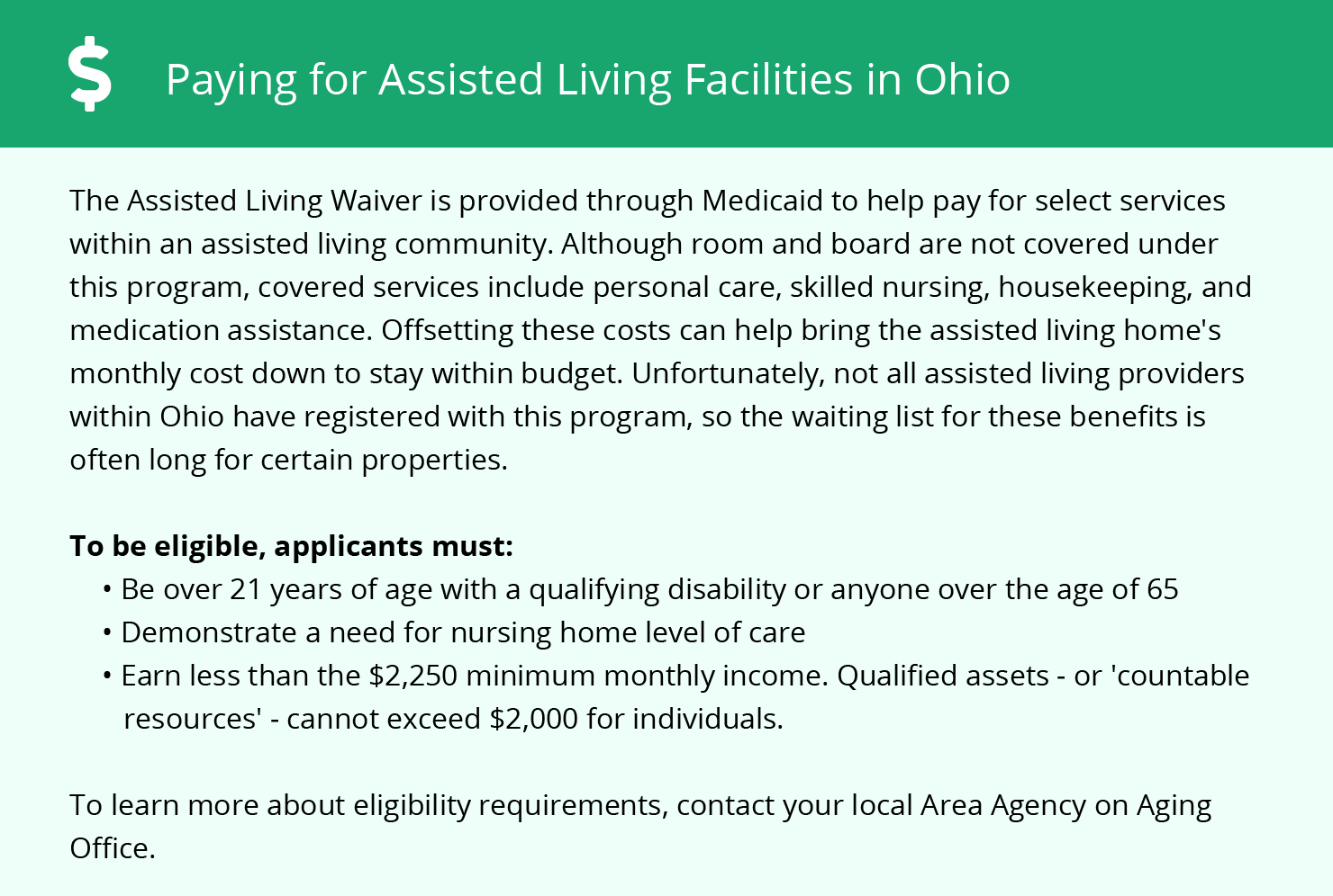 Financial Assistance for Assisted Living in Columbus