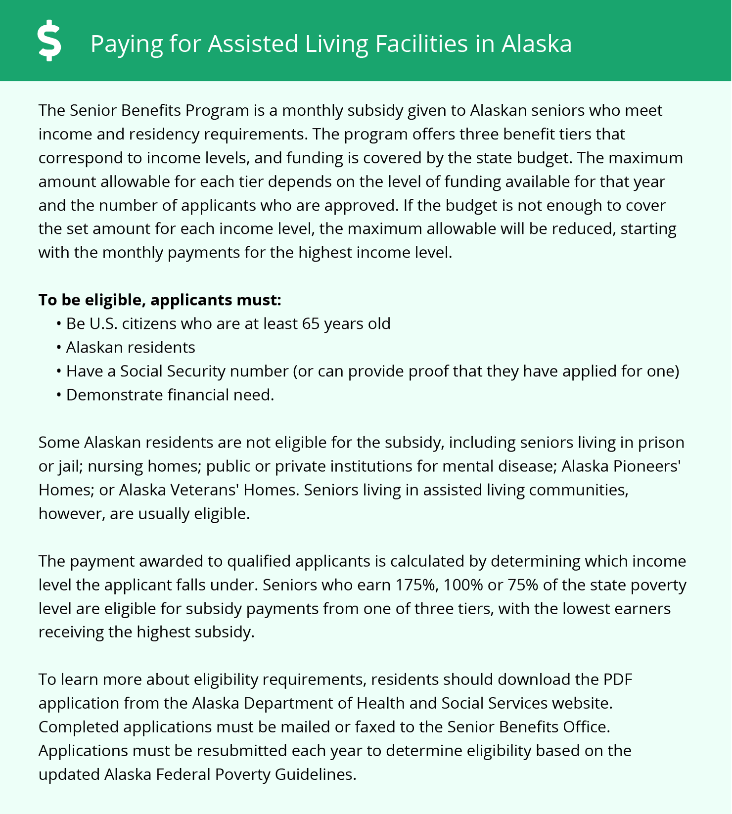 Financial Assistance for Assisted Living in Anchorage