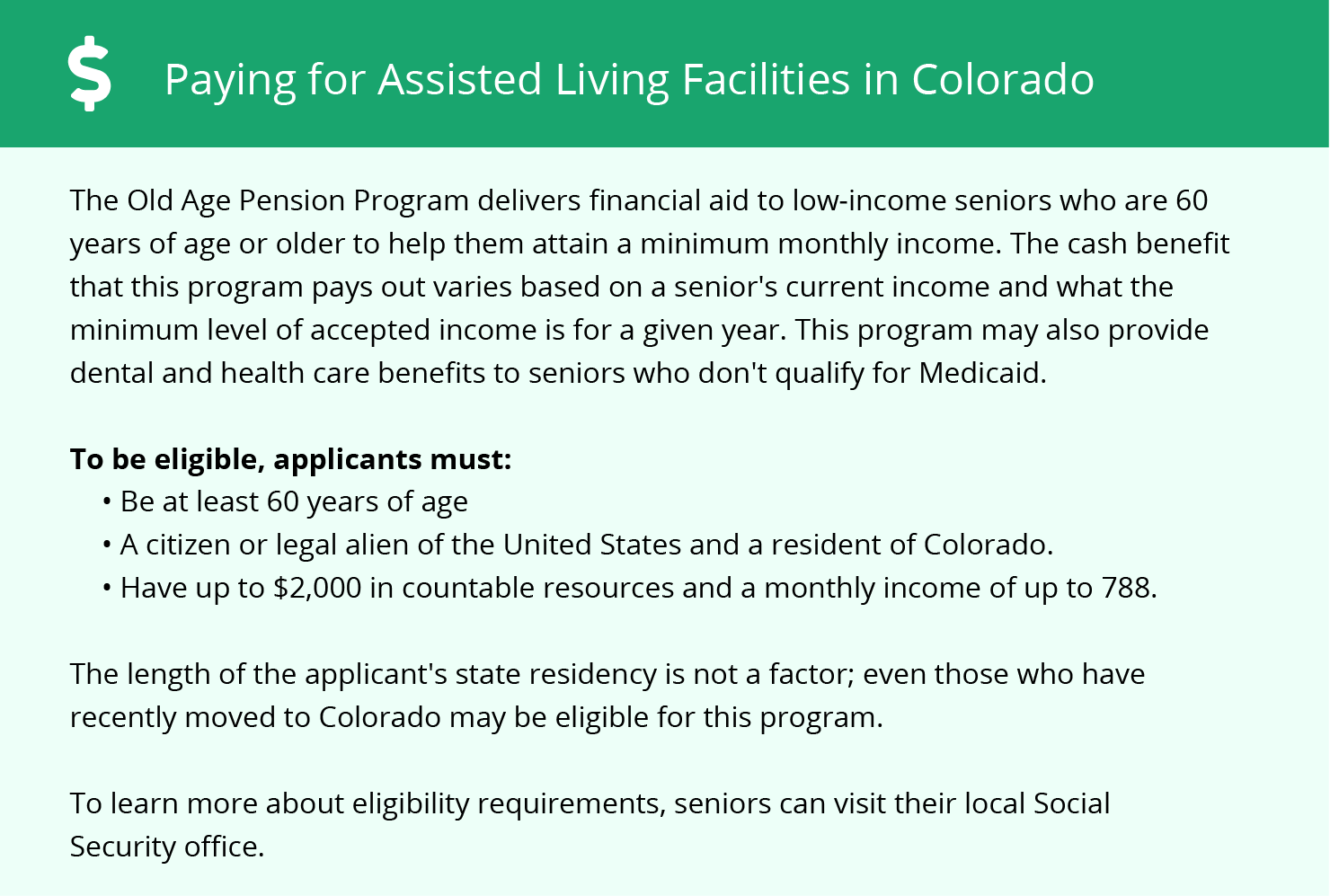 Financial Assistance for Assisted Living in Littleton
