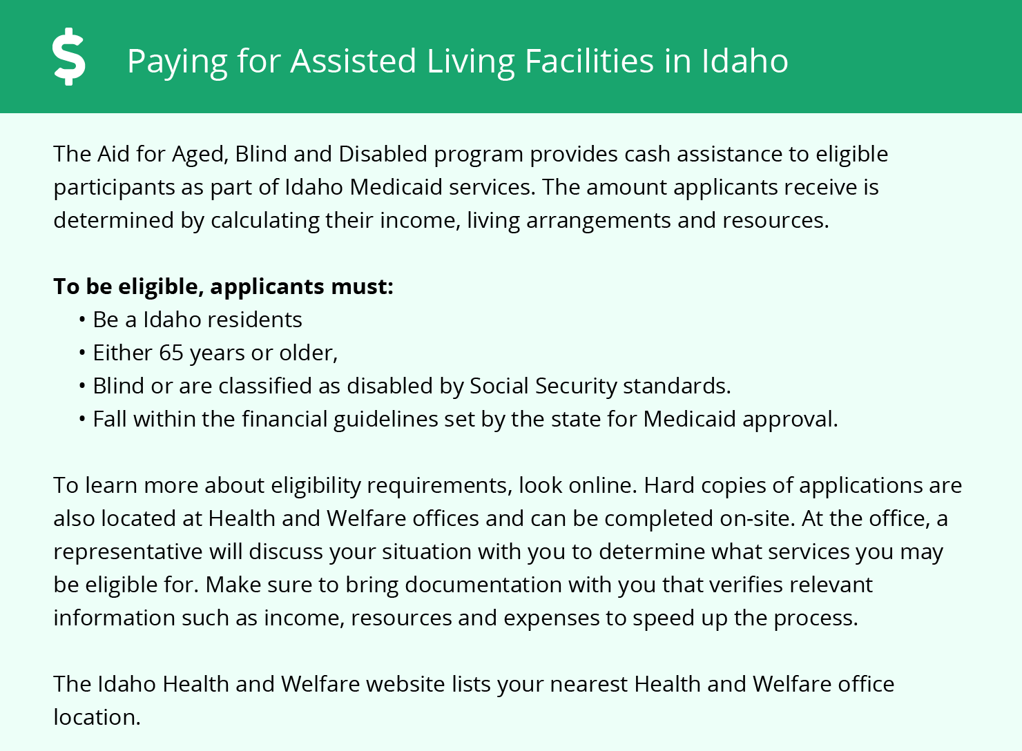 Financial Assistance for Assisted Living in Nampa