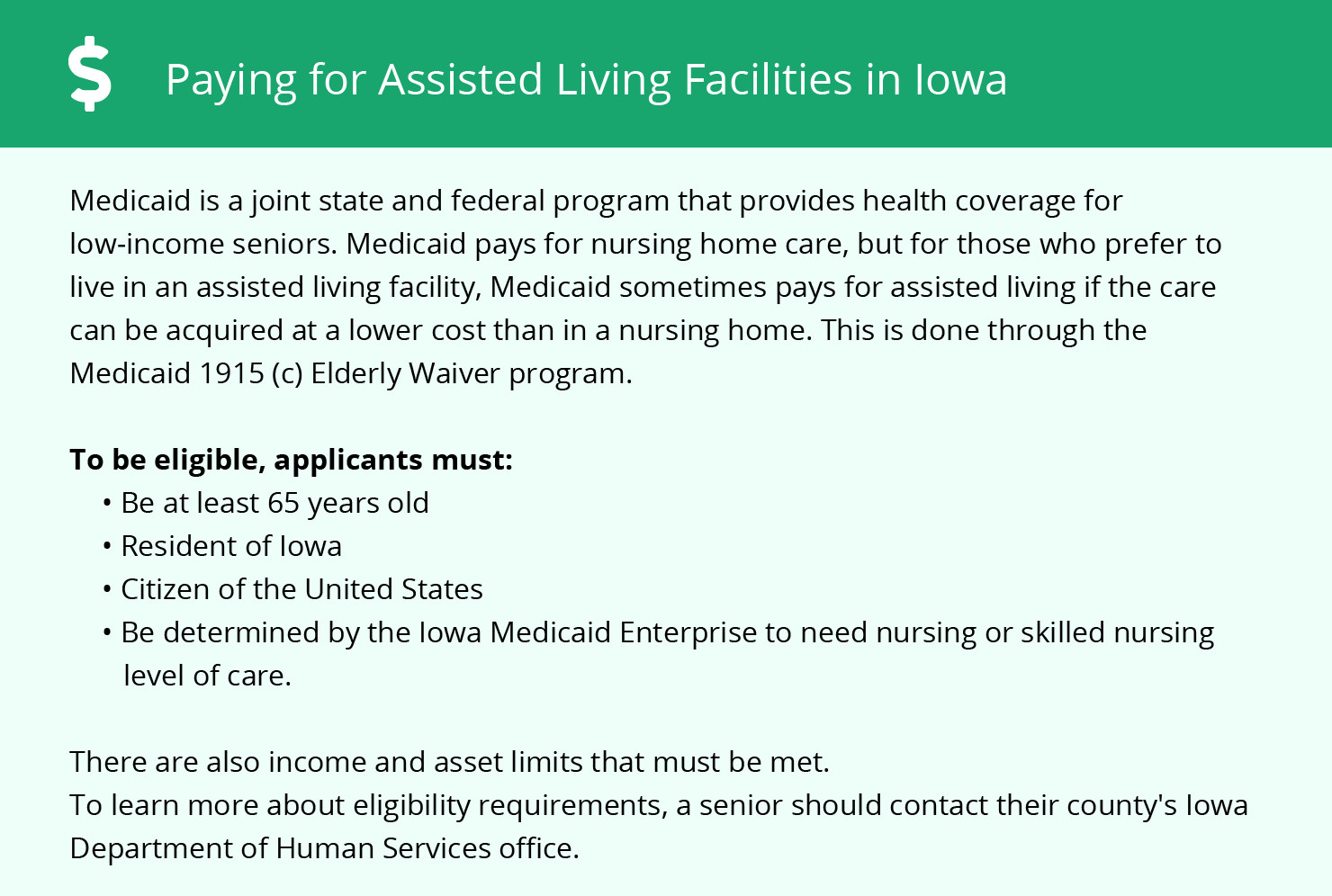 Financial Assistance for Assisted Living in Des Moines
